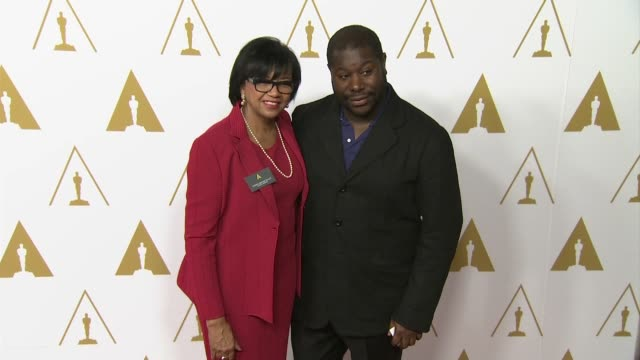 steve mcqueen at the 86th academy awards nominee luncheon - reception at the beverly hilton hotel on in beverly hills, california. - the beverly hilton hotel stock videos & royalty-free footage