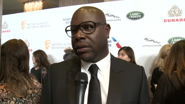 INTERVIEW Steve McQueen on what does it mean to be selected as an honoree at 2018 British Academy Britannia Awards in Los Angeles CA