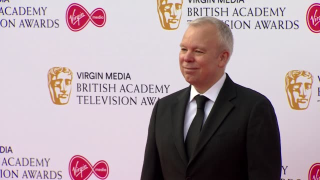 steve pemberton poses for photos on red carpet at bafta tv awards 2019 at royal festival hall london - british academy television awards stock videos & royalty-free footage