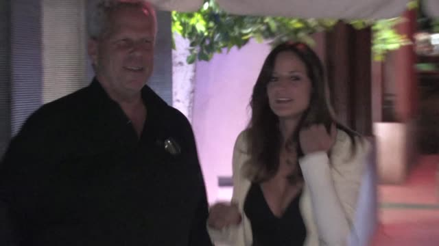 steve tisch and alia varsano at nobu in west hollywood ca on 1/24/2012 - nobu restaurants stock videos & royalty-free footage