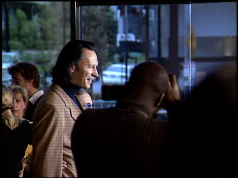 steve valentine at the 'a mighty wind' premiere at director's guide dga theater in los angeles, california on april 14, 2003. - wind点の映像素材/bロール