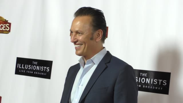 steve valentine at the illusionists - live from broadway at pantages theatre in hollywood at celebrity sightings in los angeles on february 23, 2016... - パンテージスシアター点の映像素材/bロール