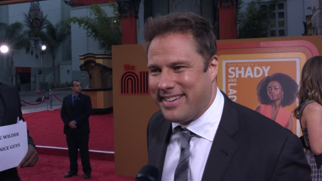 interview steve wilder on the film and being transported back to the 70's on having the movie premiere at the chinese theater at the nice guys los... - tcl chinese theater stock-videos und b-roll-filmmaterial