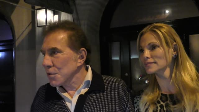 INTERVIEW Steve Wynn Andrea Hissom talk about beefing up security at his hotels about Las Vegas outside Craig's Restaurant in West Hollywood in...