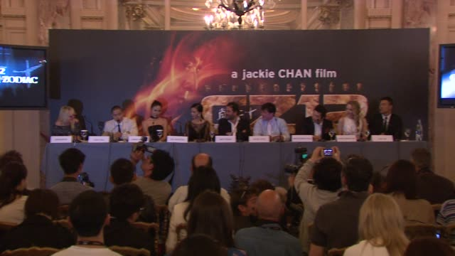 Steve Yoo on his character being in Cannes working with his heros at Chinese Zodiac Press Conference 65th Cannes Film Festival on May 18 2012 in...