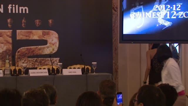 steve yoo, zhang nan xin, yao xingtong, brett ratner, jackie chan, sang woo, laura weissbecker, liao fan at chinese zodiac press conference: 65th... - jackie chan stock videos & royalty-free footage