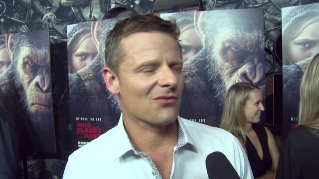 Steve Zahn on joining the series learning to be an ape and his character's comic relief at Ham Yard Hotel on June 19 2017 in London England