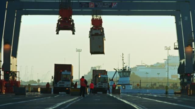 Stevedores Loading Ship