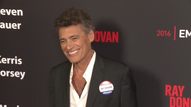 steven bauer at for your consideration screening and panel for showtime's ray donovan red carpet at paramount theater on the paramount studios lot on... - showtime video stock e b–roll