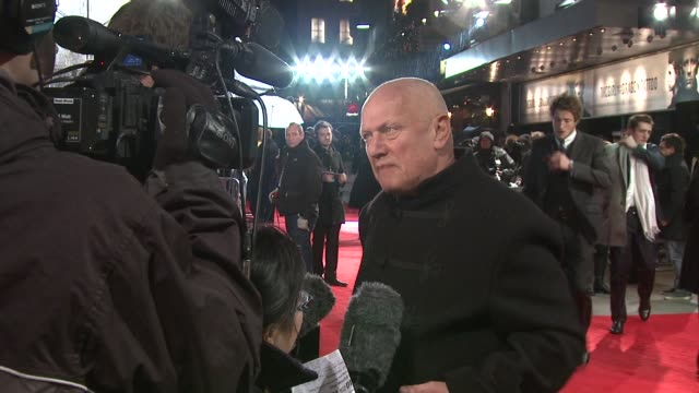 steven berkoff at the girl with the dragon tattoo world premiere at odeon leicester square on december 12 2011 in london england - the girl with the dragon tattoo stock videos and b-roll footage