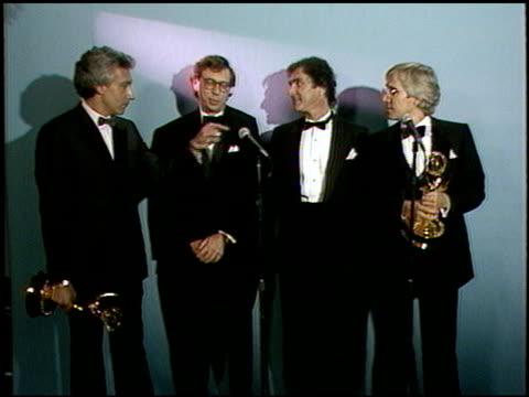 steven bochco at the 1987 emmy awards inside at the pasadena civic auditorium in pasadena california on september 20 1987 - 1987 stock videos & royalty-free footage