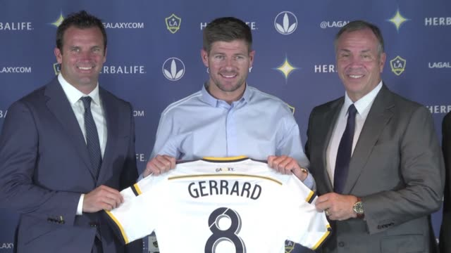 steven gerrard vowed to prove critics of his move to the los angeles galaxy wrong here tuesday as he prepares to make his longawaited debut for the... - major league soccer stock videos and b-roll footage