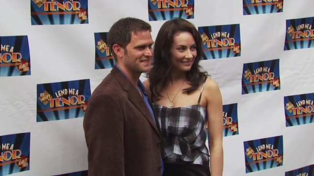 steven pasquale and laura benanti at the opening of 'lend me a tenor' arrivals at new york ny - laura benanti stock videos and b-roll footage