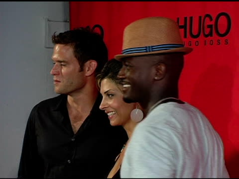 steven pasquale, callie thorne, and taye diggs at the return of the hugo boss roof deck presented by hugo hugo boss with djs tommy lee and grand... - hugo boss stock-videos und b-roll-filmmaterial