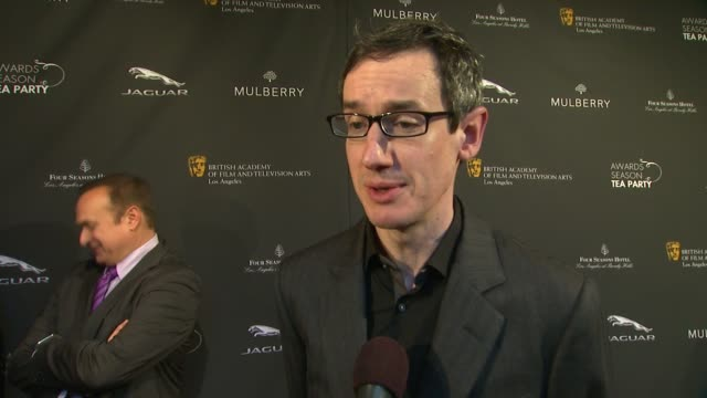 interview steven price on being a part of the afternoon at bafta la 2014 awards season tea party at four seasons hotel los angeles at beverly hills... - bafta la tea party stock videos and b-roll footage