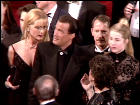 Steven Seagal at the 1995 Academy Awards Arrivals at the Shrine Auditorium in Los Angeles California on March 27 1995