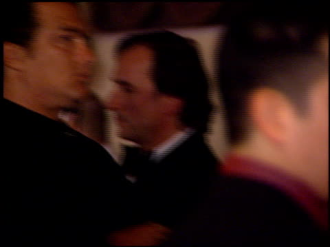 steven seagal at the clive davis' grammy awards party at the beverly hilton in beverly hills, california on february 20, 2001. - clive davis stock videos & royalty-free footage