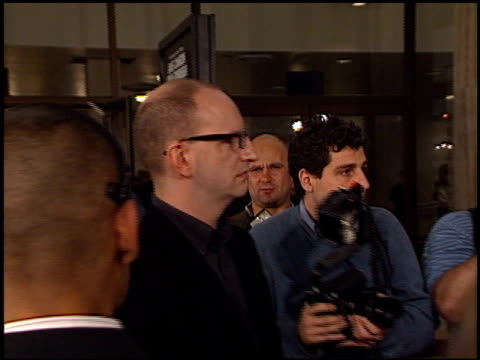 steven soderbergh at the 'solaris' premiere at the cinerama dome at arclight cinemas in hollywood, california on november 19, 2002. - solaris 2002 film stock videos & royalty-free footage