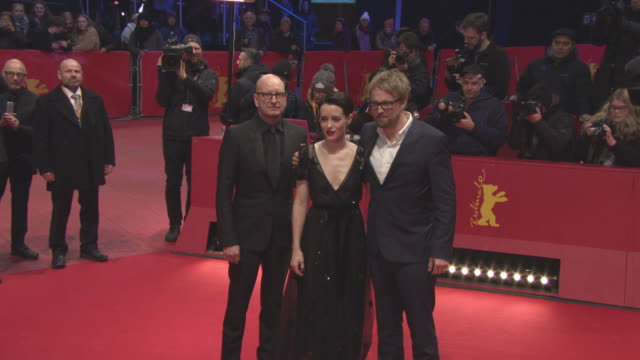 Steven Soderbergh Claire Foy Joshua Leonard at 68th Berlin Film Festival Unsane Red Carpet at Berlinale Palast on February 21 2018 in Berlin Germany
