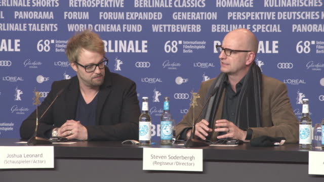 INTERVIEW Steven Soderbergh on how Matt Damon appeared as a cameo in the film at 68th Berlin Film Festival 'Unsane' Press Conference at Grand Hyatt...
