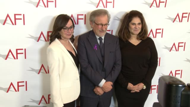 Steven Spielberg and Amy Pascal at the AFI Awards Luncheon on January 05 2018 in Los Angeles California