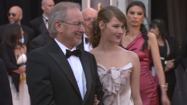 steven spielberg and daughter at the 83rd annual academy awards arrivals pool cam at hollywood ca - steven spielberg stock videos & royalty-free footage
