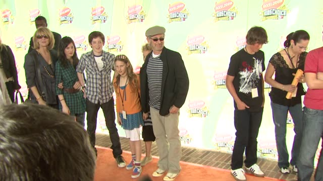 Steven Spielberg and family at the 2007 Nickelodeon's Kids' Choice Awards at UCLA's Pauley Pavilion in Los Angeles California on March 31 2007