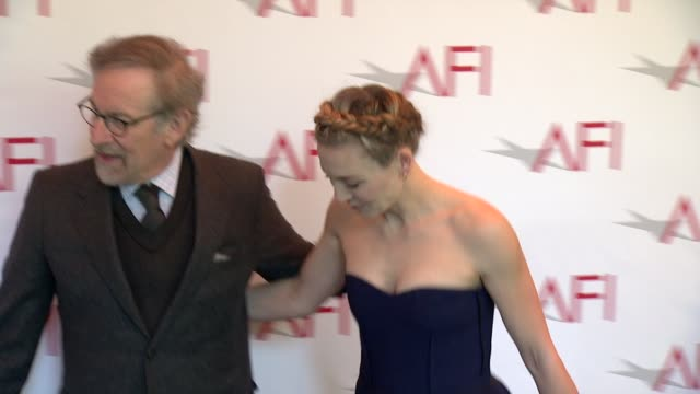 Steven Spielberg and Juliet Rylance at 2015 AFI Awards Luncheon at The Four Seasons Hotel on January 09 2015 in Beverly Hills California