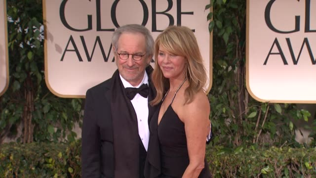 Steven Spielberg and Kate Capshaw at 69th Annual Golden Globe Awards Arrivals on January 15 2012 in Beverly Hills California
