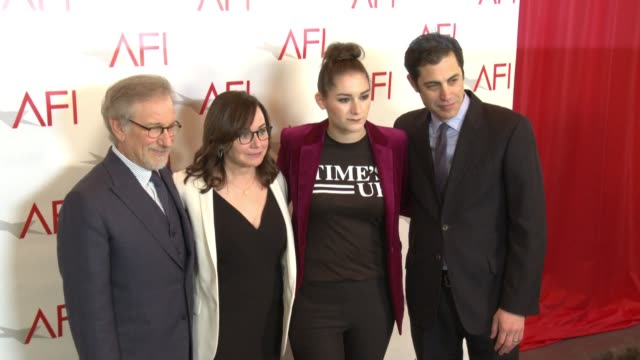 Steven Spielberg and Liz Hannah at the AFI Awards Luncheon on January 05 2018 in Los Angeles California
