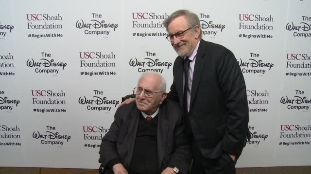 steven spielberg arnold spielberg at ambassadors for humanity gala benefitting usc shoah foundation in los angeles ca - steven spielberg stock videos & royalty-free footage