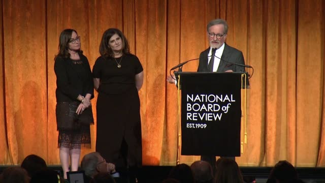SPEECH Steven Spielberg at 2018 National Board Of Review Awards Gala at Cipriani 42nd Street on January 9 2018 in New York City