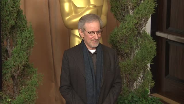 stockvideo's en b-roll-footage met steven spielberg at the 85th academy awards nominations luncheon in beverly hills ca on 2/4/13 - steven spielberg