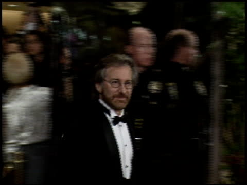 steven spielberg at the afi honors honoring clint eastwood press room at the beverly hilton in beverly hills, california on march 1, 1996. - american film institute stock videos & royalty-free footage