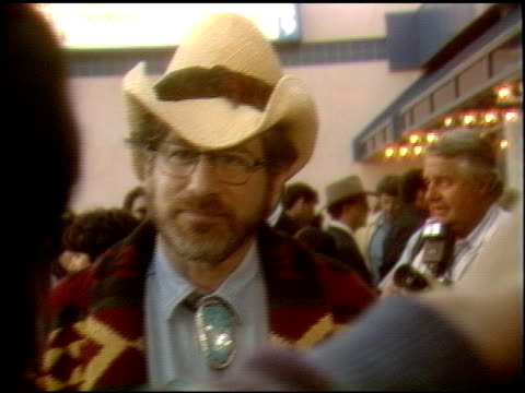 Steven Spielberg at the 'Back to the Future III' Premiere at Universal Theaters on May 21 1990