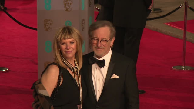 Steven Spielberg at The EE British Academy Film Awards at The Royal Opera House on February 14 2016 in London England