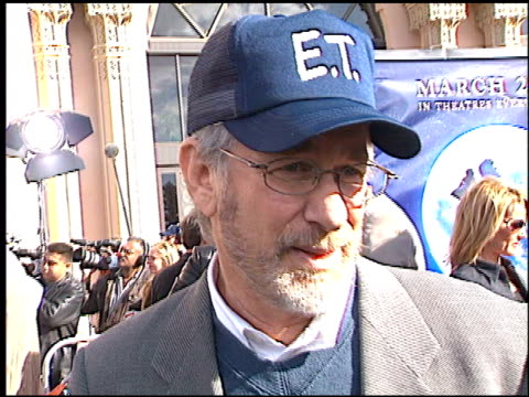 Steven Spielberg at the 'ET' 20th Anniversary at the Shrine Auditorium in Los Angeles California on March 16 2002