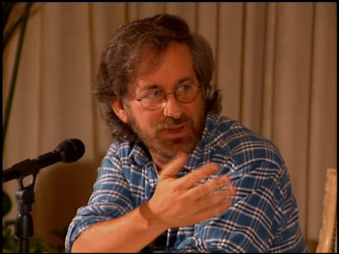 Steven Spielberg at the Spielberg Geffen Katzenberg Studio Conference on October 12 1994