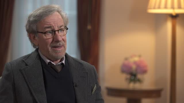 steven spielberg describes both oskar schindler and james b. donovan as 'not ordinary' men - producer stock videos & royalty-free footage