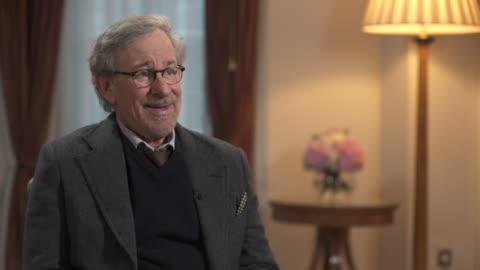 steven spielberg doesn't cast 'household names' for his movies saying 'i don't think as tom hanks as a household name, i think of him as one of the... - producer stock videos & royalty-free footage