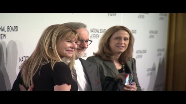 Steven Spielberg Kate Capshaw at 2018 National Board Of Review Awards Gala at Cipriani 42nd Street on January 9 2018 in New York City