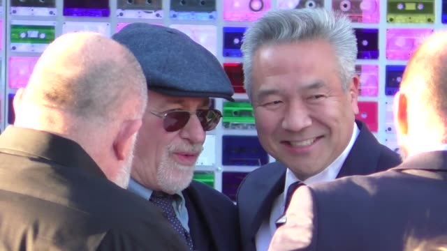 Steven Spielberg Kevin Tsujihara arrive at the premiere of Ready Player One at Dolby Theatre in Hollywood in Celebrity Sightings in Los Angeles