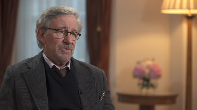 steven spielberg likes to keep his politics private saying 'my politics are subliminal through my work' - storytelling stock videos and b-roll footage