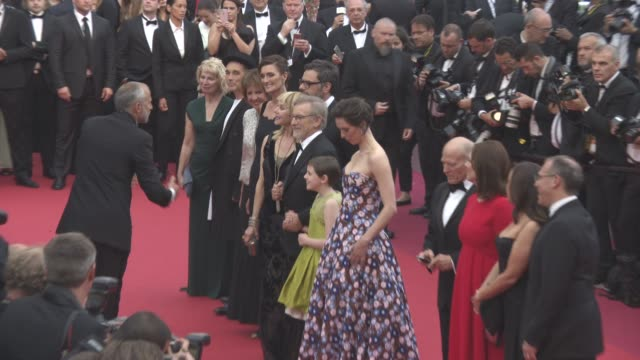Steven Spielberg Mark Rylance Rebecca Hall Ruby Barnhill Kate Capshaw at 'The BFG' red carpet at Palais des Festivals on May 14 2016 in Cannes France