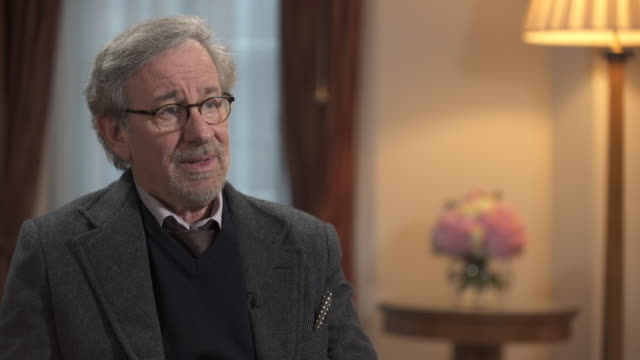 steven spielberg on politics saying he believes that television is a better 'conduit for that because it reaches more people [than film]' - steven spielberg stock videos & royalty-free footage