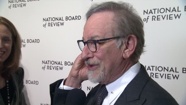 interview steven spielberg on the rise of women directors at 2018 national board of review awards gala at cipriani 42nd street on january 9 2018 in... - film director stock videos and b-roll footage
