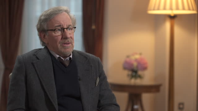 steven spielberg on tom hanks' performance in the film 'bridge of spies' - producer stock videos & royalty-free footage