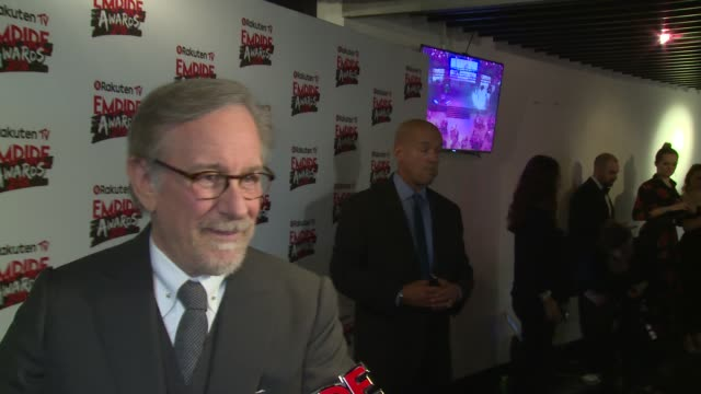 stockvideo's en b-roll-footage met steven spielberg reaching his pinacle summer blockbusters and empire magazine at the roundhouse on march 18 2018 in london england - steven spielberg