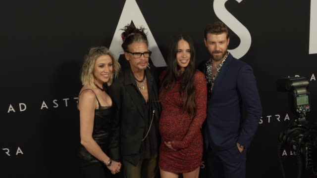 steven tyler aimee preston chelsea tyler and jon foster at the ad astra special screening at arclight cinerama dome on september 18 2019 in hollywood... - cinerama dome hollywood stock videos & royalty-free footage