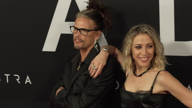 steven tyler and aimee preston at the ad astra special screening at arclight cinerama dome on september 18 2019 in hollywood california - cinerama dome hollywood stock videos & royalty-free footage